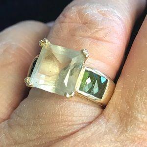 Jewelry - 14K Yellow Gold Ring Citrine and Tourmaline